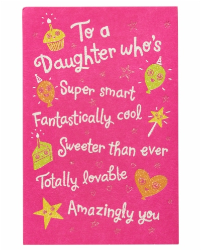 American Greetings Birthday Card for Daughter (Better and Better Every Year) Perspective: top