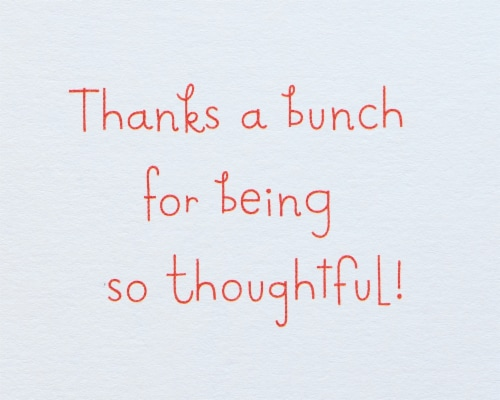 American Greetings #37 Thank You Card (Bouquet) Perspective: top