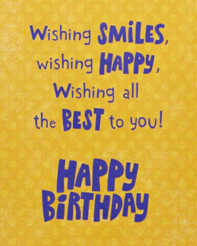 Amercan Greetings #59 Birthday Card (Sweet Birthday Wishes) Perspective: top