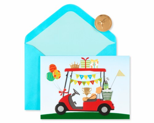 Papyrus Father's Day Card (Golf Cart) Perspective: top