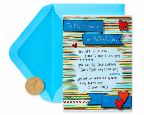 Papyrus Father's Day Card for Husband (Why I Love You) Perspective: top