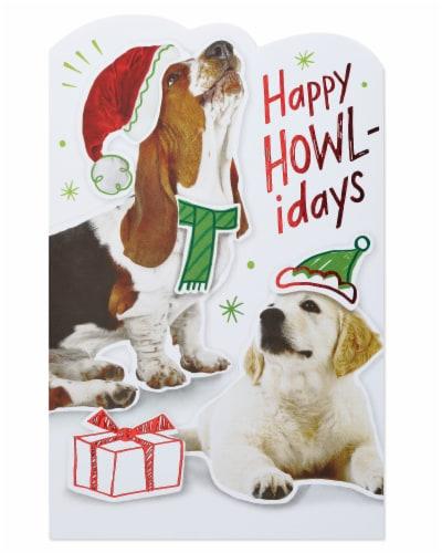 American Greetings Christmas Card (Happy Howl-idays) Perspective: top