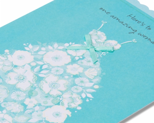 American Greetings Bridal Shower Card (Amazing Woman) Perspective: top