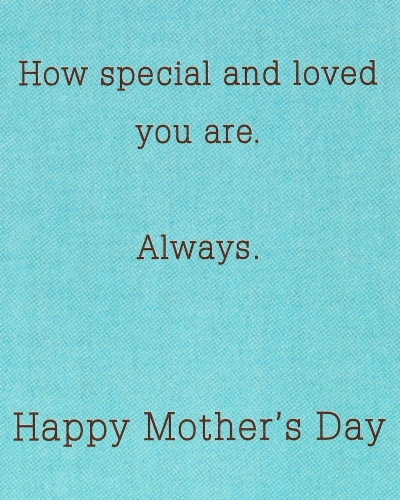 American Greetings #64 Mother's Day Card for Grandmother (Flowers) Perspective: top