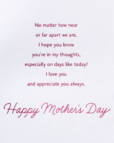 American Greetings #60 Mother's Day Card (Grateful) Perspective: top