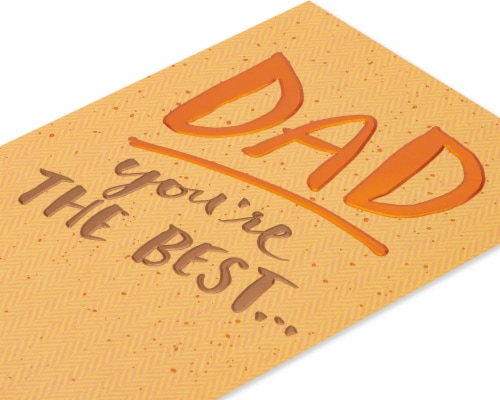 American Greetings #60 Father's Day Card (You're the Best) Perspective: top