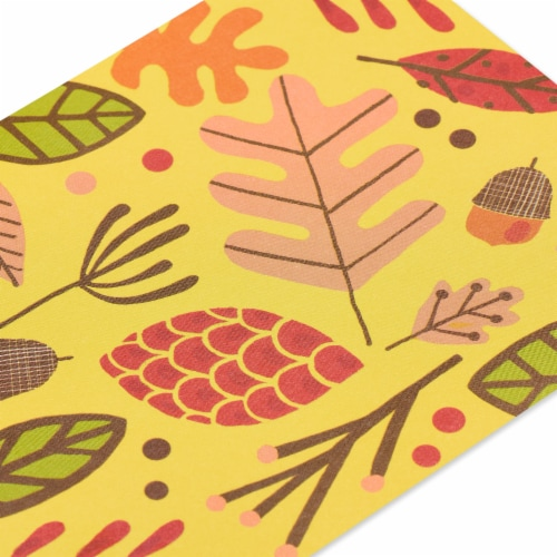 American Greetings Thinking of You Card (Leaves) Perspective: top