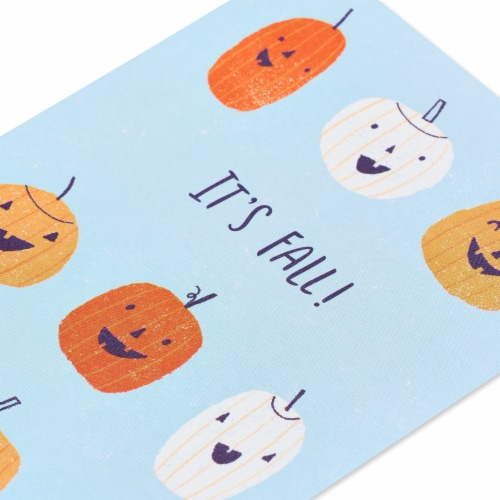American Greetings Thinking of You Card (Pumpkins) Perspective: top
