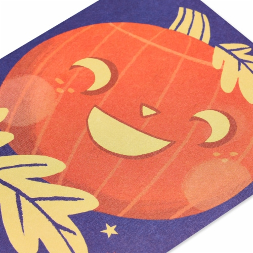 American Greetings Thinking of You Card (Smiling Pumpkin) Perspective: top