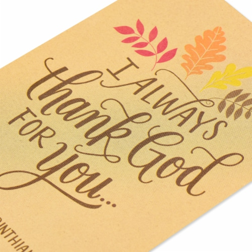 American Greetings Religious Thank You Card (Thank God) Perspective: top
