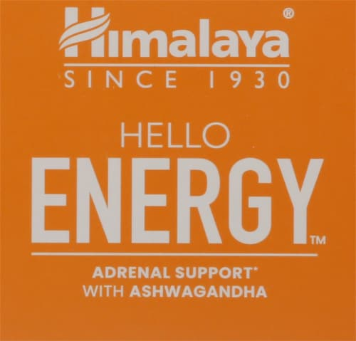 Himalaya Hello Energy Adrenal Support With Ashwagandha Vegetarian Capsules Perspective: top
