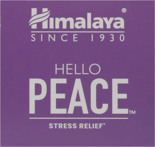 Himalaya Hello Peace Stress Relief Vegetarian Capsules Perspective: top
