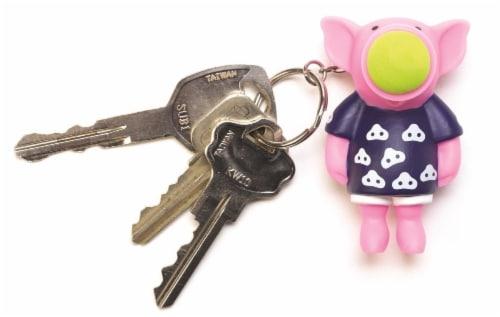 Popper Keychain, Sock Monkey Perspective: top