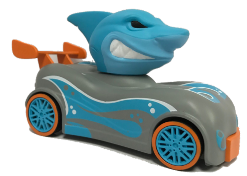 Knuckle-Headz 2 Pk Shark vs Dinosaur Perspective: top