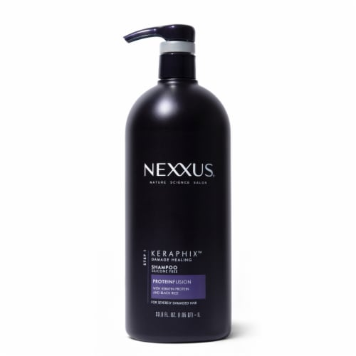 Nexxus® Silicone-Free Keraphix with ProteinFusion Black Rice Shampoo for Damaged hair Perspective: top