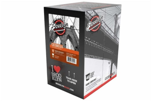 Brooklyn Beans Colombian Coffee Pods for Keurig K-Cups Coffee Maker 40 Count Perspective: top