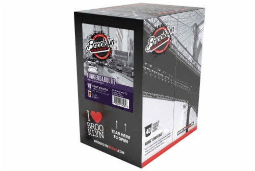 Brooklyn Beans Fuhgeddaboutit Coffee Pods for Keurig K-Cups Coffee Maker, 40 Count Perspective: top
