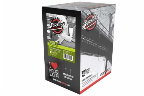 Brooklyn Beans Hazelnut Coffee Pods for Keurig K Cups Coffee Maker 40 Count Perspective: top