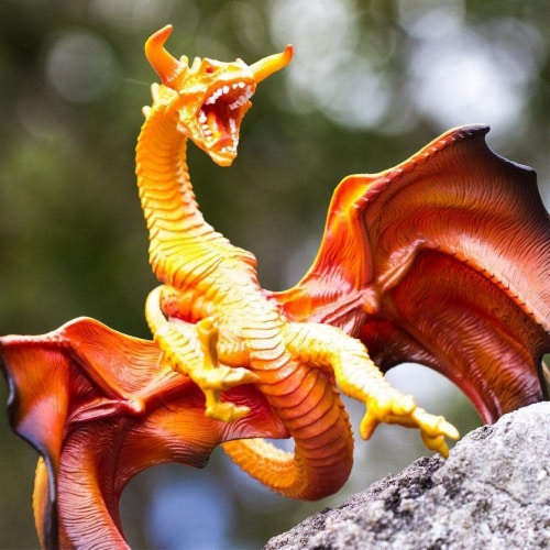 Lava Dragon Toy Perspective: top