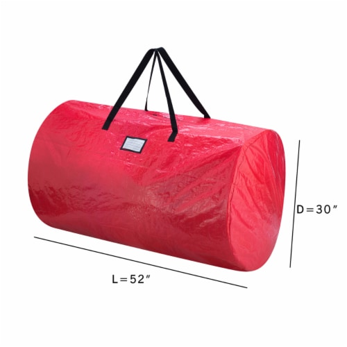 Christmas Tree and Wreath Storage Bag Organizers Zipper with Handles Red Perspective: top