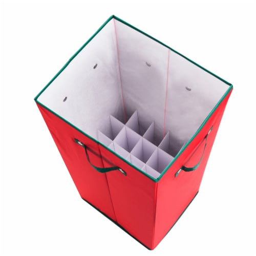 Wrapping Paper Storage Box with Lid Holds 20 Rolls 30 Inches Tall Organizer Perspective: top