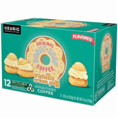 The Original Donut Shop Vanilla Cream Puff Coffee K-Cup Pods Perspective: top