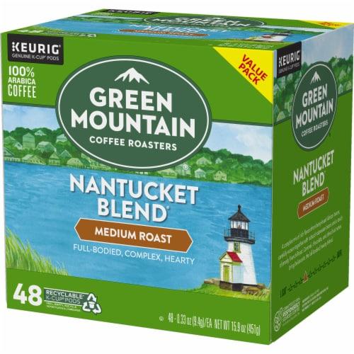 Green Mountain Coffee Roasters Nantucket Blend Medium Roast Coffee K-Cup Pods Perspective: top