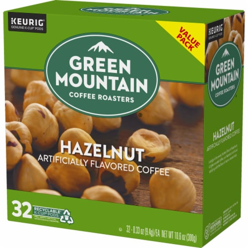 Green Mountain Coffee Roasters Hazelnut Coffee K-Cup Pods Perspective: top