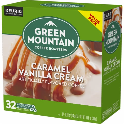Green Mountain Coffee Caramel Vanilla Cream Coffee K-Cup Pods Perspective: top