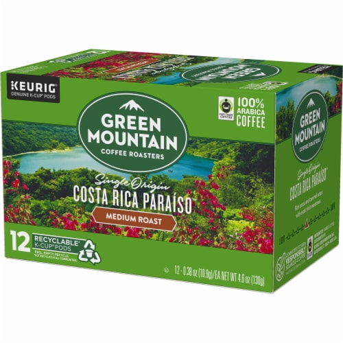 Green Mountain Costa Rica Coffee K-Cup Pods Perspective: top