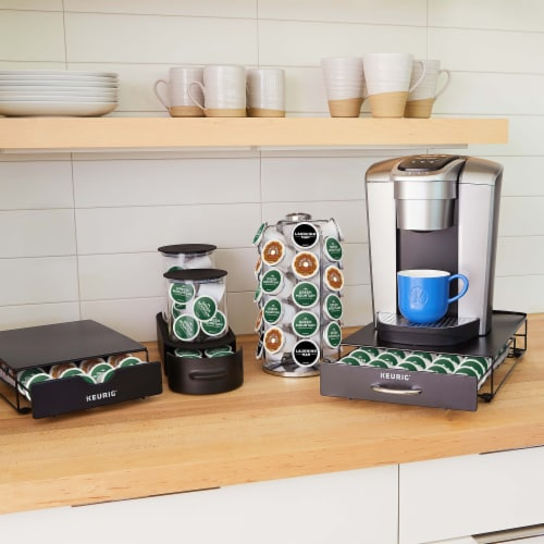 Keurig® K-Cup® Pod Non-Rolling Storage Drawer - Black Perspective: top