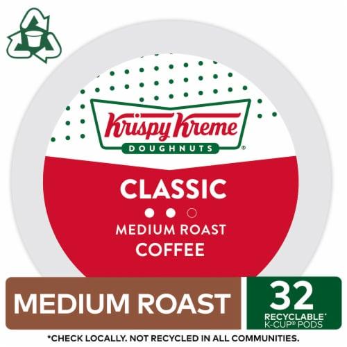 Krispy Kreme Classic Medium Roast Coffee K-Cup Pods Perspective: top