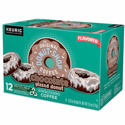 The Original Donut Shop Chocolate Glazed Donut Medium Roast Coffee K- Cup Pods Perspective: top