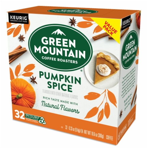 Green Mountain Coffee® Limited Edition Pumpkin Spice Coffee K-Cup Pods Perspective: top