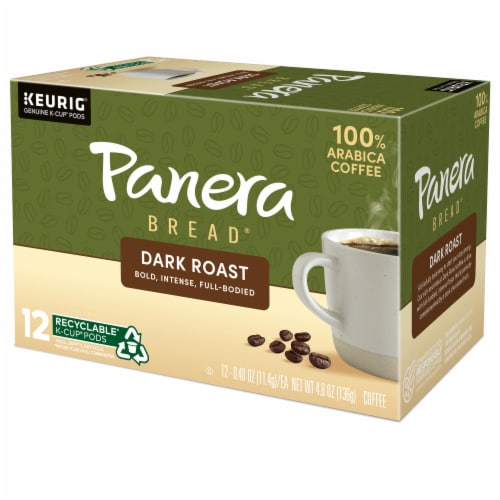 Panera Bread at Home Dark Roast Coffee K-Cup Pods Perspective: top