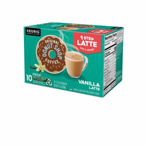 The Original Donut Shop Vanilla Latte Coffee K-Cup Pods Perspective: top