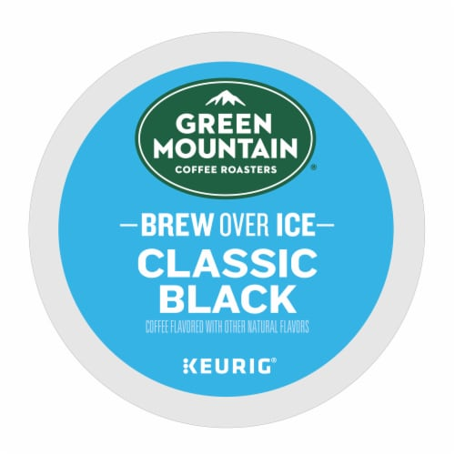 Green Mountain Coffee® Brew Over Ice Classic Black K-CupPods Perspective: top