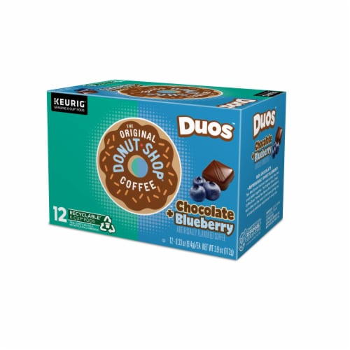 The Original Donut Shop® Duos™ Chocolate + Blueberry Coffee K-Cup Pods Perspective: top