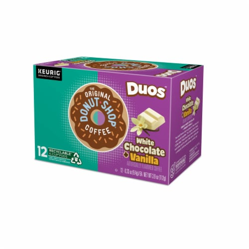 The Original Donut Shop Dous White Chocolate Vanilla K-Cup Pods Perspective: top