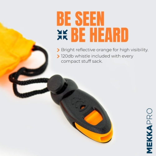 MEKKAPRO SOS Emergency Thermal Bivy Sleeping Bag with Survival Whistle, Survival Bivvy Sack Perspective: top