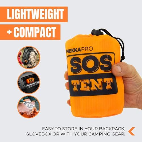 MEKKAPRO Emergency Survival Tent Shelter – 2 Person Tent – Survival Emergency Shelter, Perspective: top