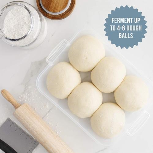 Chef Pomodoro Dough Proofing Box, 14 x 11-Inch, Fit 4-6 Dough Balls Perspective: top