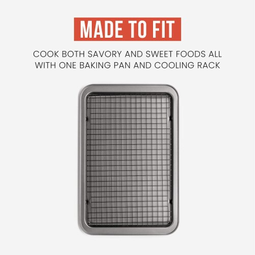 Chef Pomodoro Non-Stick Baking Tray and Cooling Tray Set, 2-Piece Perspective: top