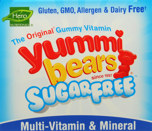 Yummi Bears Sugar Free Multi-Vitamin & Mineral Supplements Perspective: top