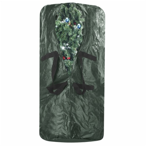 Christmas Tree Zipper Storage Bag Holds Fake Unassembled Trees up to 9 Ft High Perspective: top