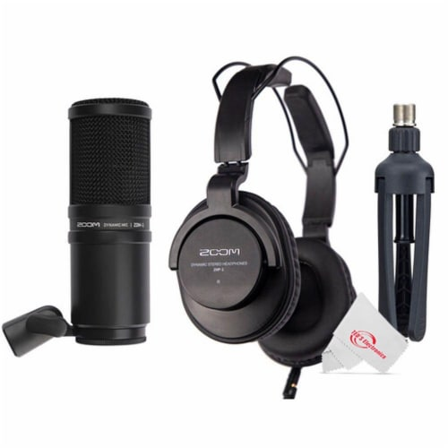 Zoom H4n Pro 4-input 4-track Digital Recorder + Podcast Accessory Bundle Perspective: top