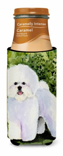 Bichon Frise Ultra Beverage Insulators for slim cans Perspective: top