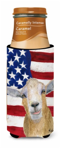 USA American Goat Ultra Beverage Insulators for slim cans  RDR3028MUK Perspective: top