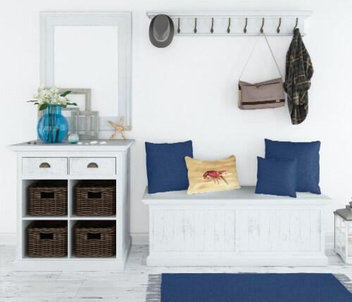Carolines Treasures  8230PW1216 Crawfish   Canvas Fabric Decorative Pillow Perspective: top