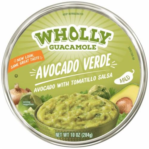 Wholly Guacamole Mild Avocado Verde Salsa Perspective: top